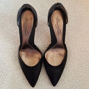 Kenneth Cole black D'Orsay style heels